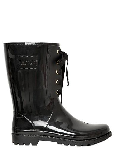 RED Valentino 30mm Rubber Bow Boots on shopstyle.com