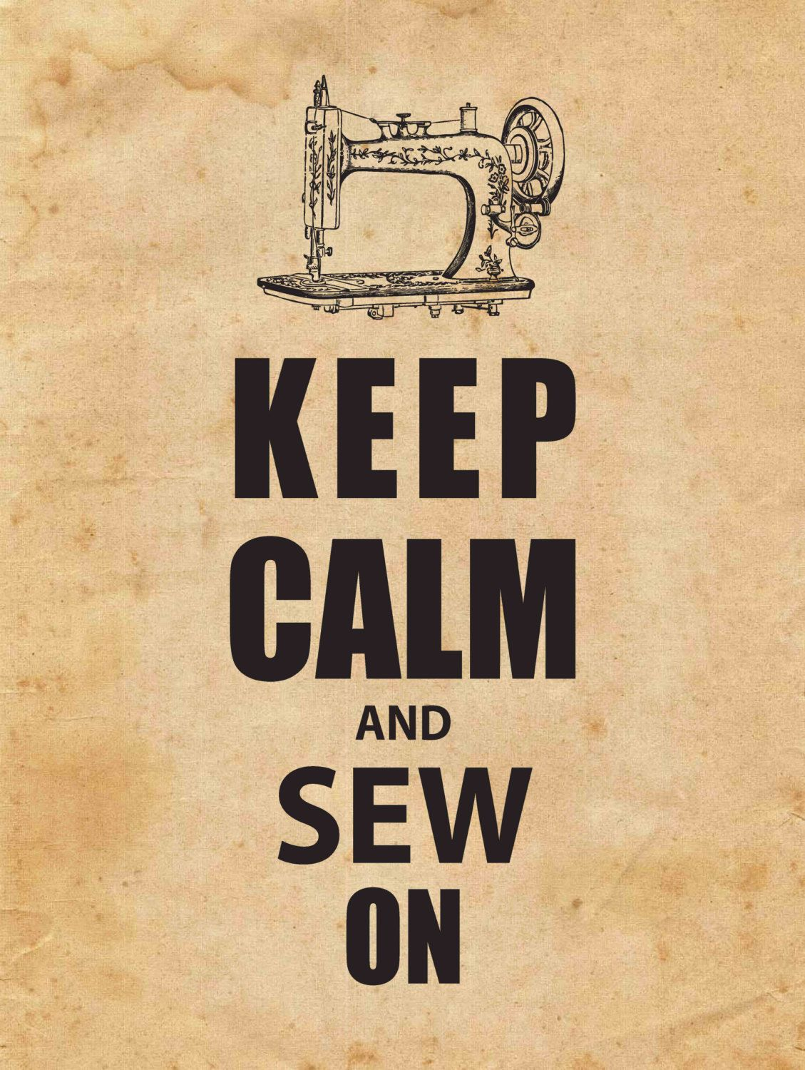 Wall Art - Keep Calm and Sew On @Danielle Lampert Lampert Fulton ...