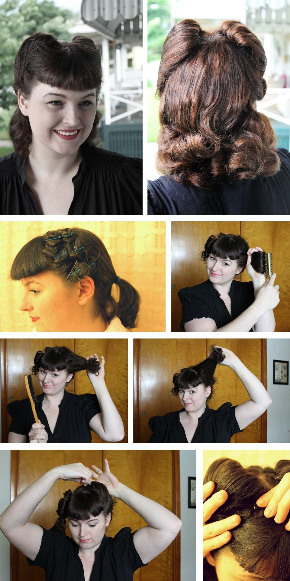 Get The Full Step By Step Tutorial For This 1940s Hair Style On The Blog Hair Styles Vintage Hairstyles Vintage Hairstyles Tutorial