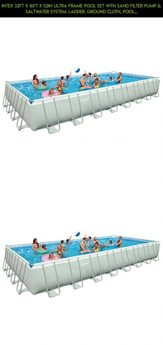 Intex 32ft X 16ft X 52in Ultra Frame Pool Set with Sand Filter Pump ...