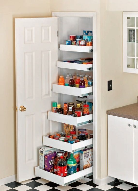 Here;s how to build a Pull Out Pantry with drawers -
