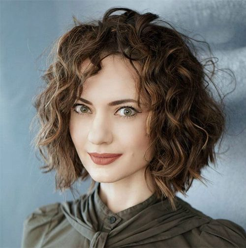 Tremendous Short Curly Bob Hairstyles 2019 For Women Curly Hair Styles Hair Styles Short Curly Haircuts