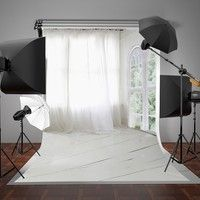 5x7ft 150x220cm Living Room Photography Backdrops White Curtain