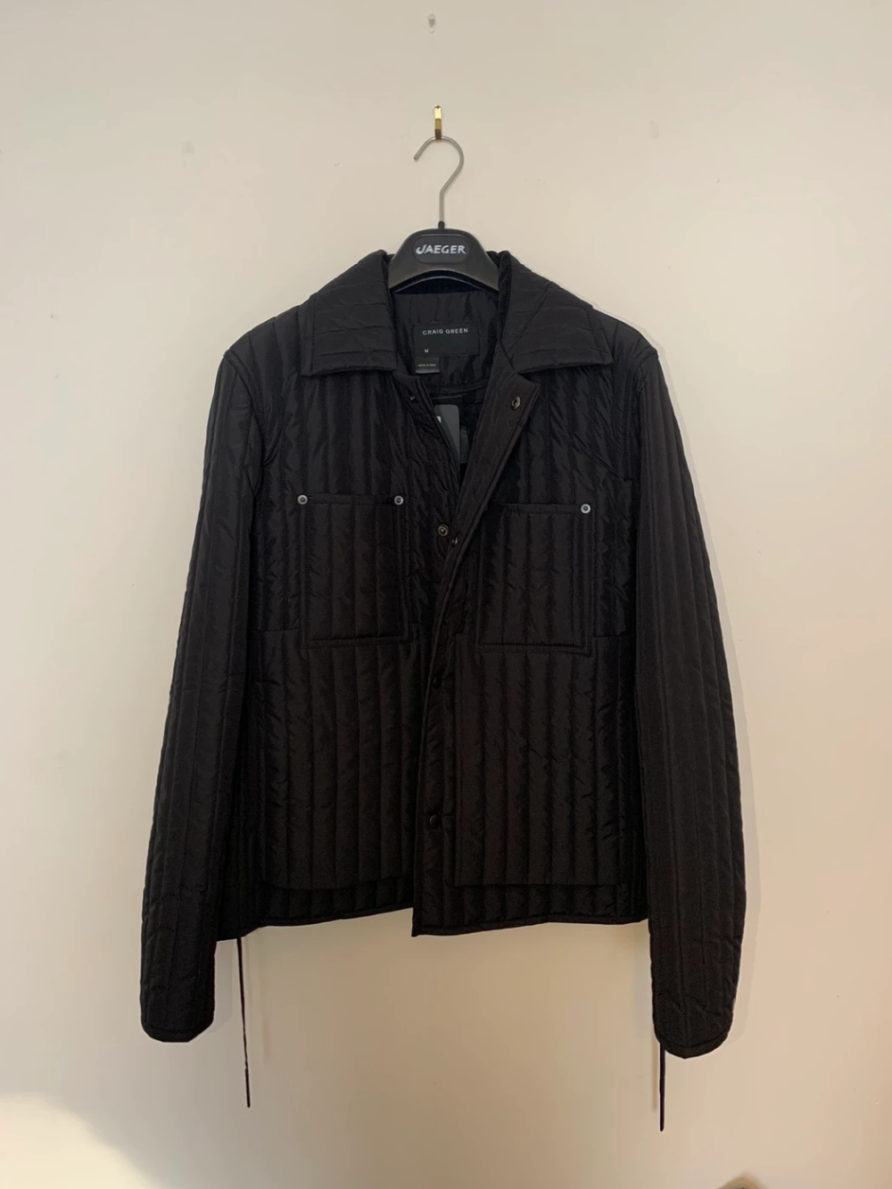 Craig Green Ss19 Craig Green Black Quilted Worker Jacket Size M 688 Green Outerwear Black Quilt Jackets