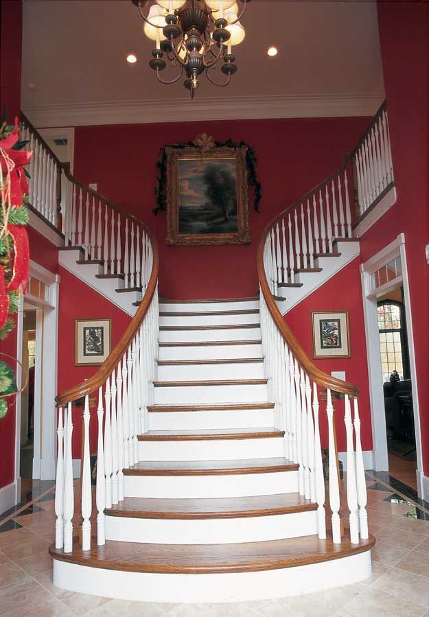 Grand staircase in this 4 bedroom Colonial