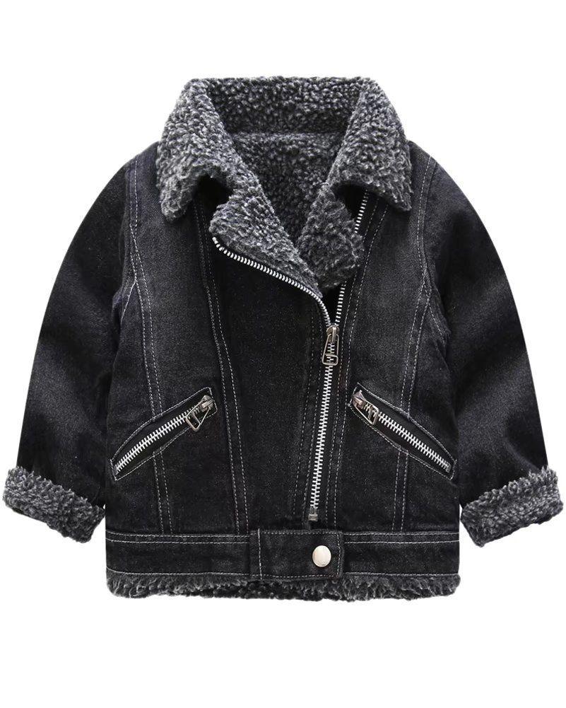 0d5c69581cf64 ... Jackets   Coats by Kids World. Little Boys Sherpa Lined Denim Jacket