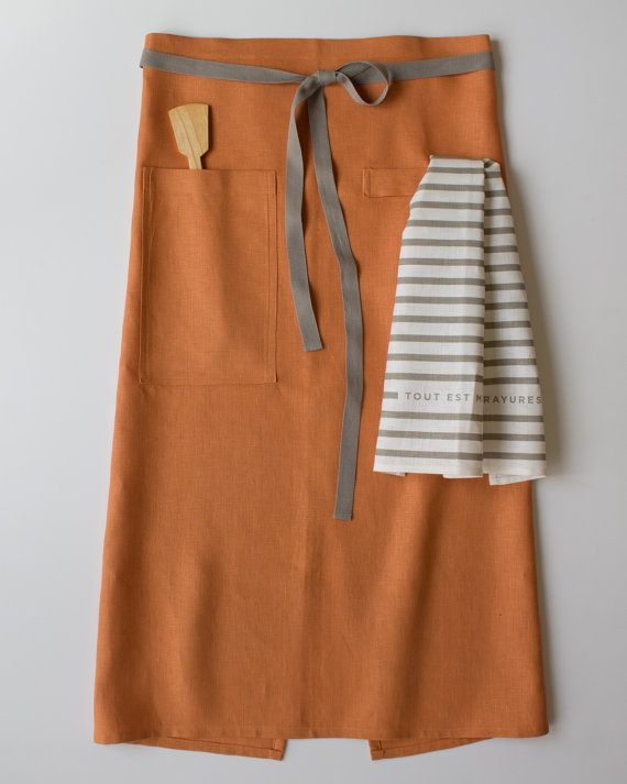 Bistro Apron - Copper | Aprons, Pinafores and Smocks ...