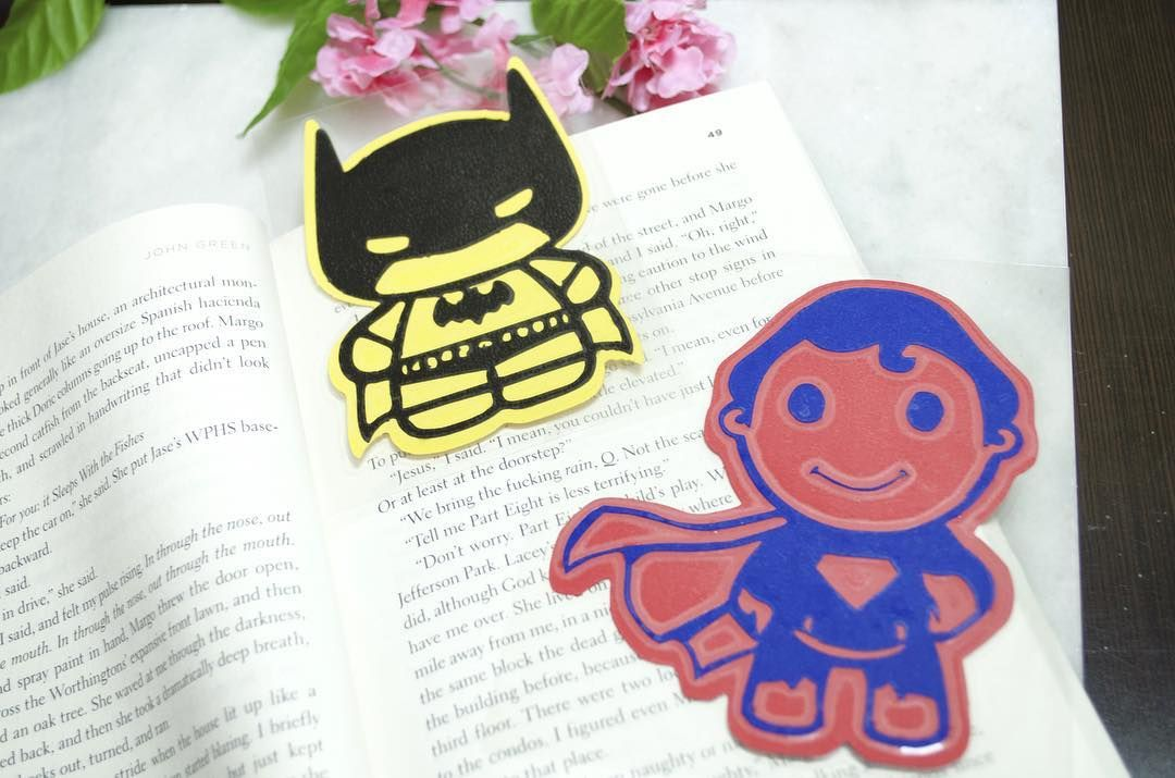 Who else is excited about the new Batman vs Superman movie?? We made these lovely bookmarks just for the Dc fans!! Coming soon in the store #batmanvsuperman #dc #book #bookmark #etsy #superhero #batman #superman