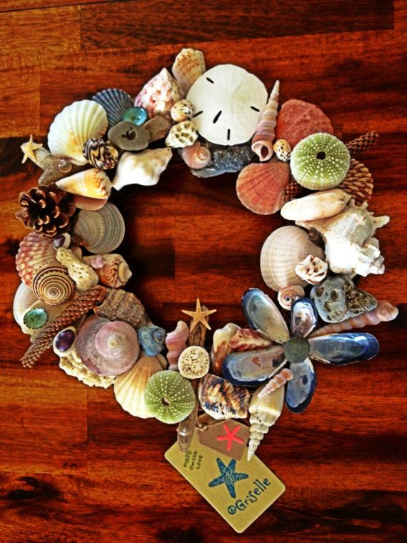 Sea shell wreath 15' on Etsy, $60.00