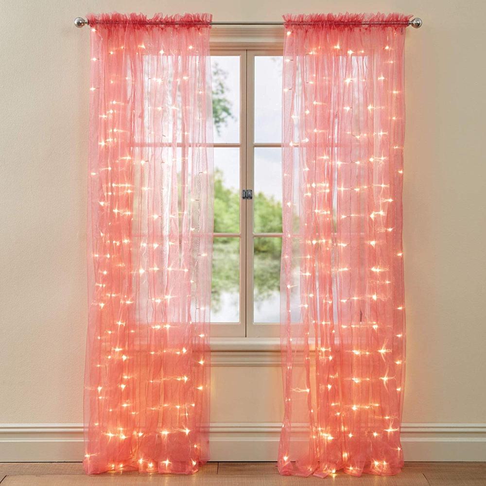 Amazon Com Brylanehome 84 Pre Lit Rod Pocket Curtain Panel