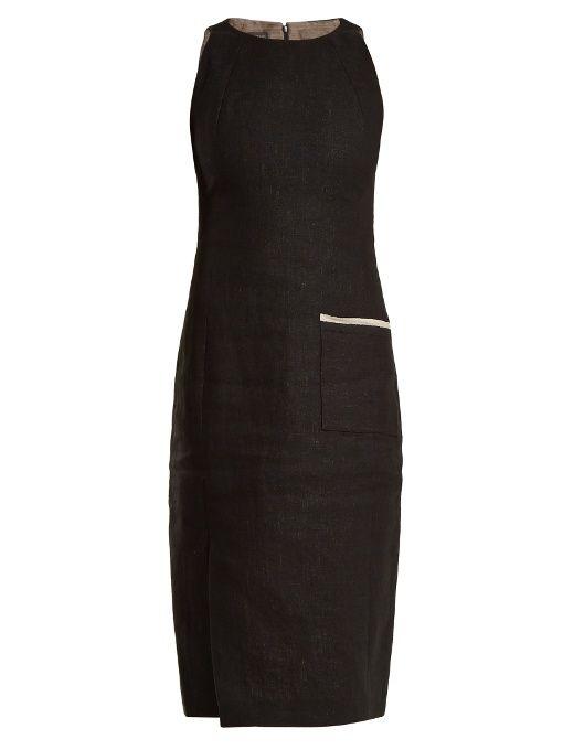 Carl Kapp Jaguar sleeveless linen dress