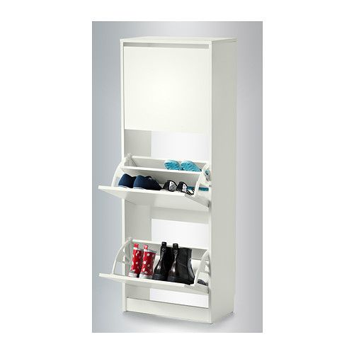 Delightful BISSA Shoe Cabinet With 3 Compartments IKEA Helps You Organize Your Shoes  And Saves Floor Space