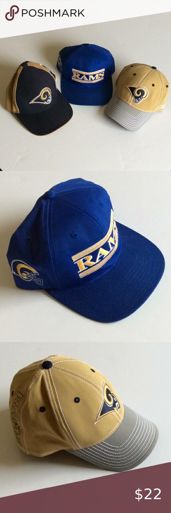 Rams Hats 2 Reebok 1 Annco Vintage Trucker Style