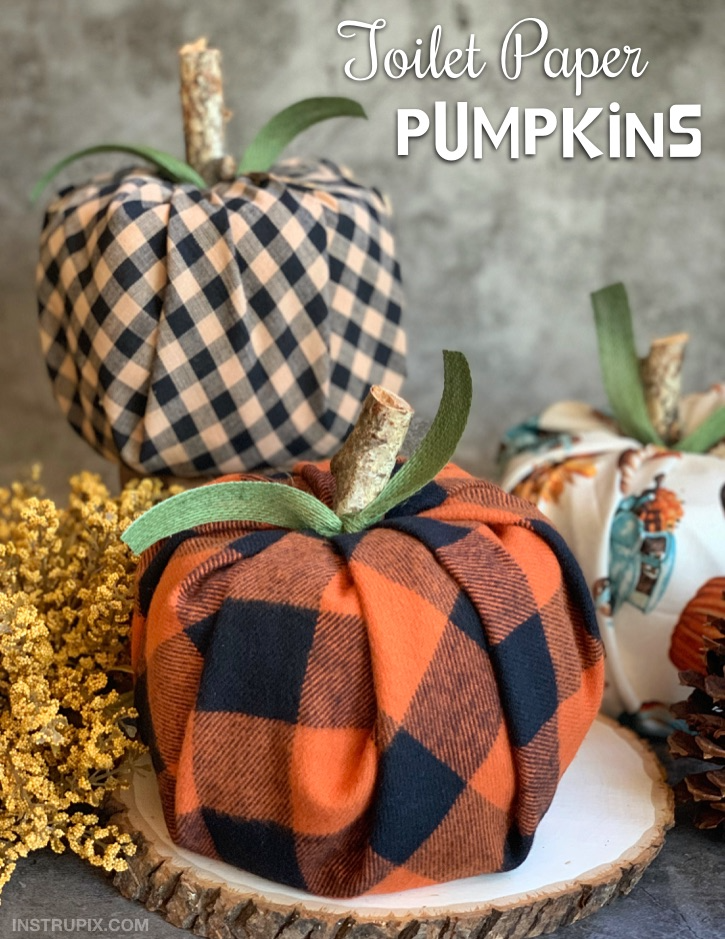 Toilet Paper Pumpkins Cheap Easy Fall Decor In 2020 Easy Fall Decor Fall Crafts Diy Diy Fall