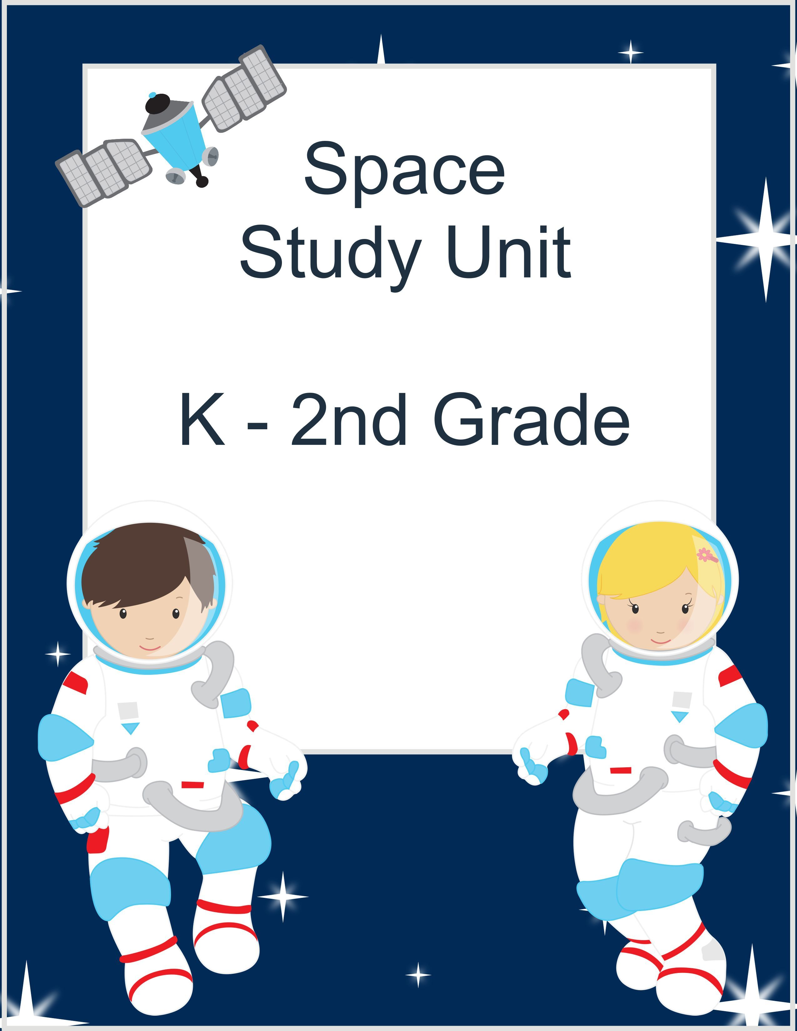 Space Study Unit Ideas - The Relaxed Homeschool   Kindergarten units [ 3300 x 2550 Pixel ]