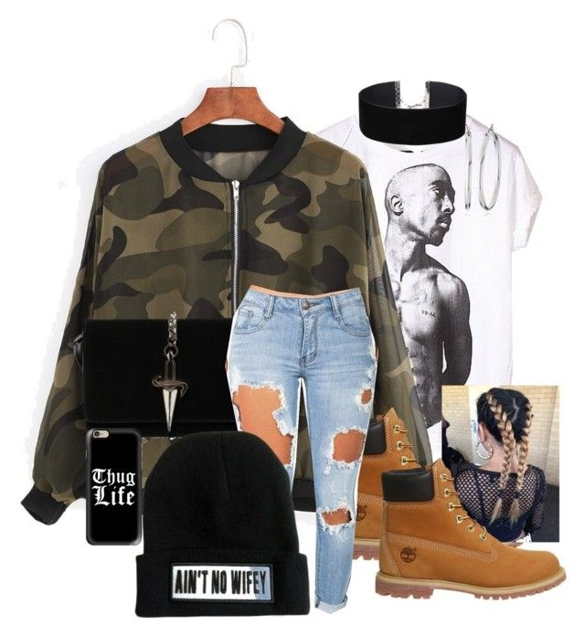 """Thug Life"" by dstyler on Polyvore featuring MDKN, Timberland, Cesare Paciotti, Machine, Miss Selfridge, Casetify and Nine West"