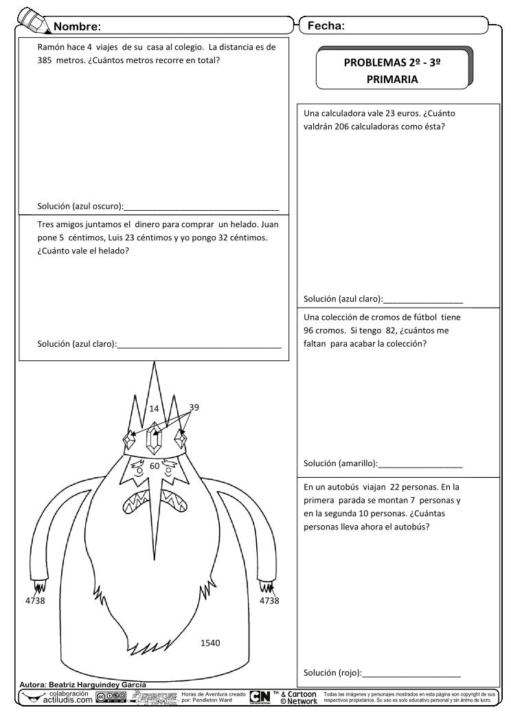 Problemas para 2º y 3º -01 | Matemáticas 2 | Pinterest