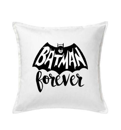 ... Zwart | Ook op kussen verkrijgbaar door PaperCandyNL op Etsy Batman \u2022 Quote \u2022 Superhero iron-on heattransfer for T-shirt pillow case or cotton bag etc.