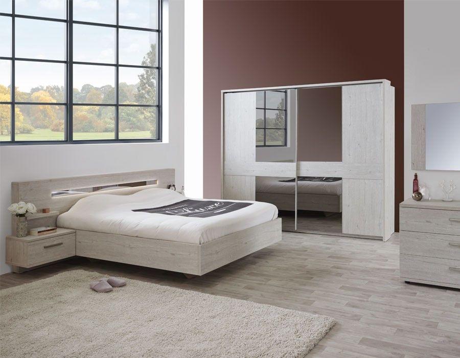 lit contemporain couleur bois blanc diane lit adulte pinterest chambre chambre adulte et. Black Bedroom Furniture Sets. Home Design Ideas
