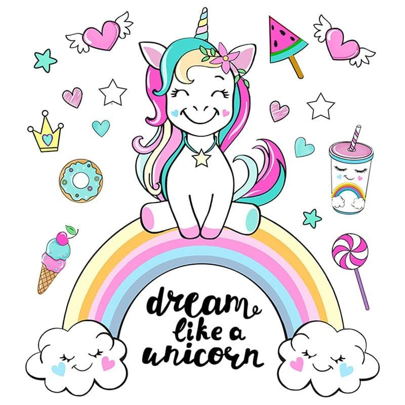 Colorful Unicorn Rainbow Wall Stickers Rainbow Wall Stickers