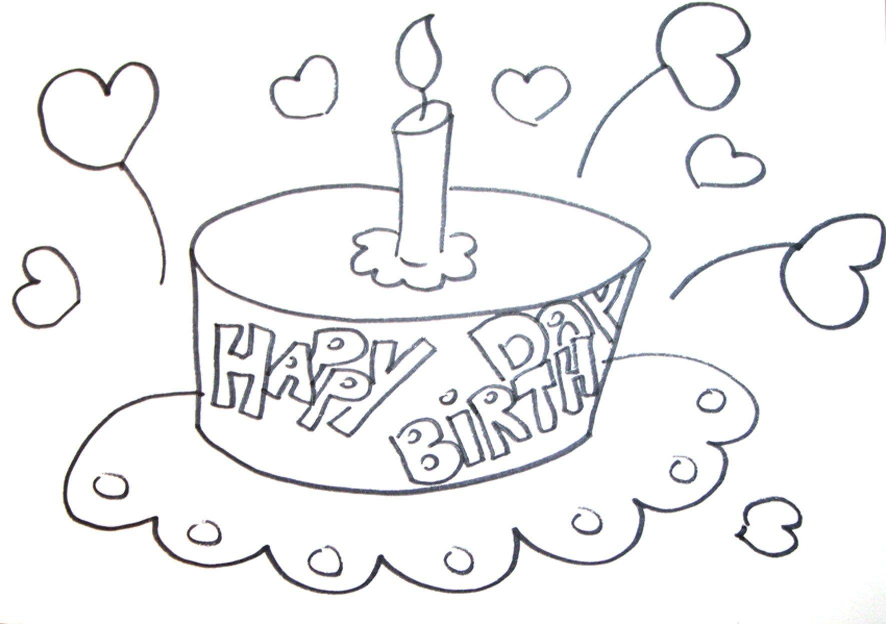 Geburtstag Ausmalbild http://www.geburtstagstorte14.net/geburtstag