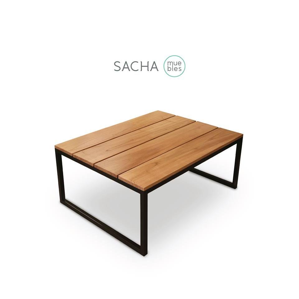 Mesa camel hierro y madera muebles dise os a for Diseno de muebles de hierro