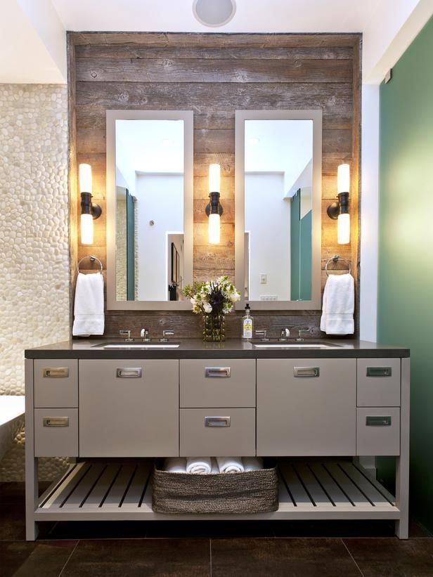 Reclaimed Wood Backsplash Beautiful Bathrooms Contemporary Bathrooms Barn Bathroom