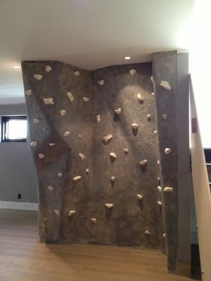 st catherines residential rockwerx rock climbing walls canada - Home Climbing Wall Designs