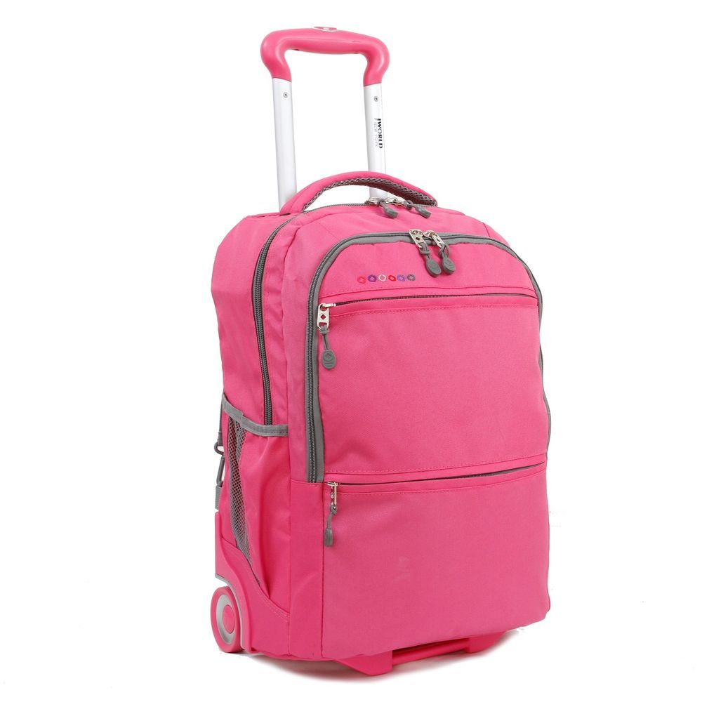 """Womens Rolling Backpack 20"""" Laptop Padded Handle Back To College ..."""