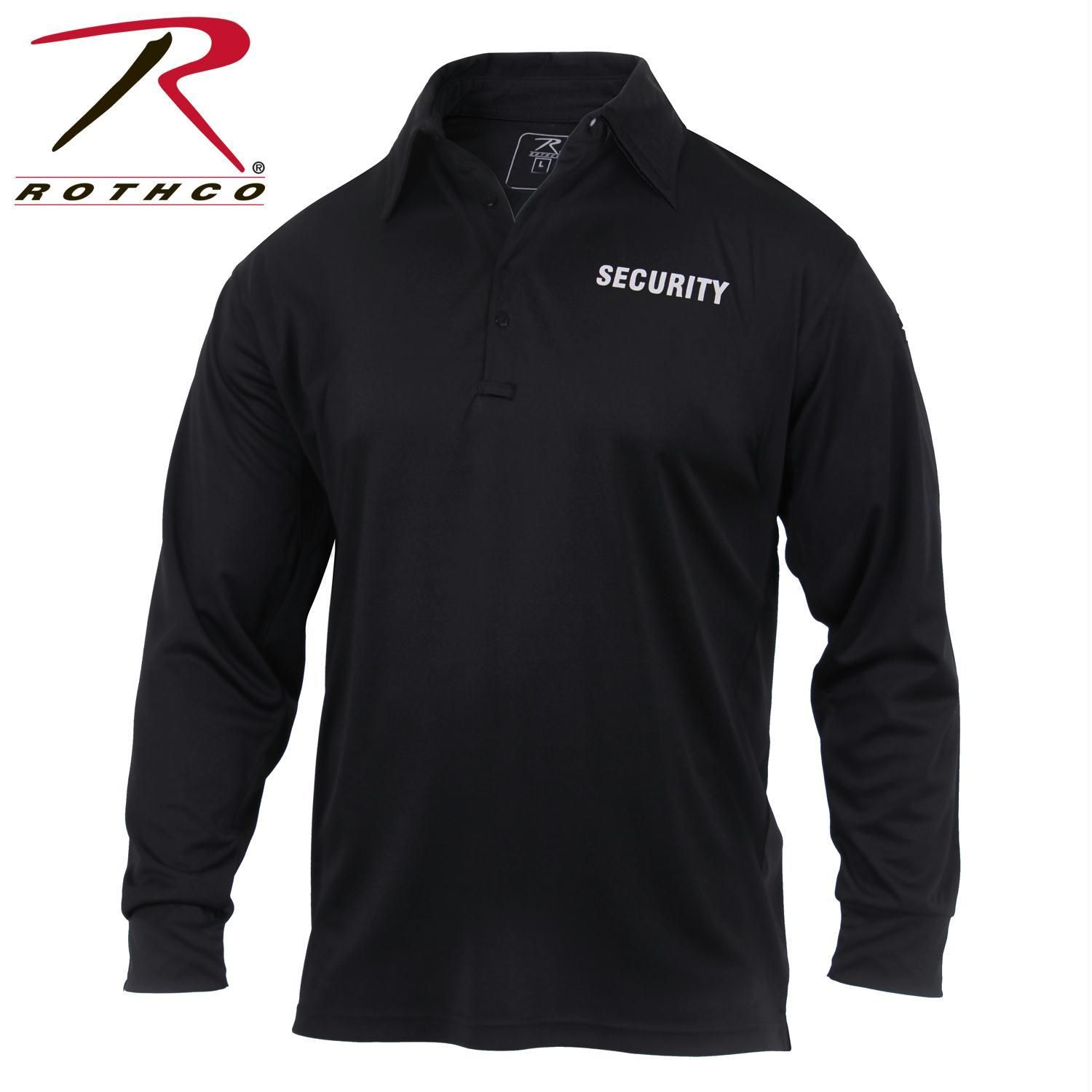 Rothco Moisture Wicking Long Sleeve Security Polo  b62bc8c3b76