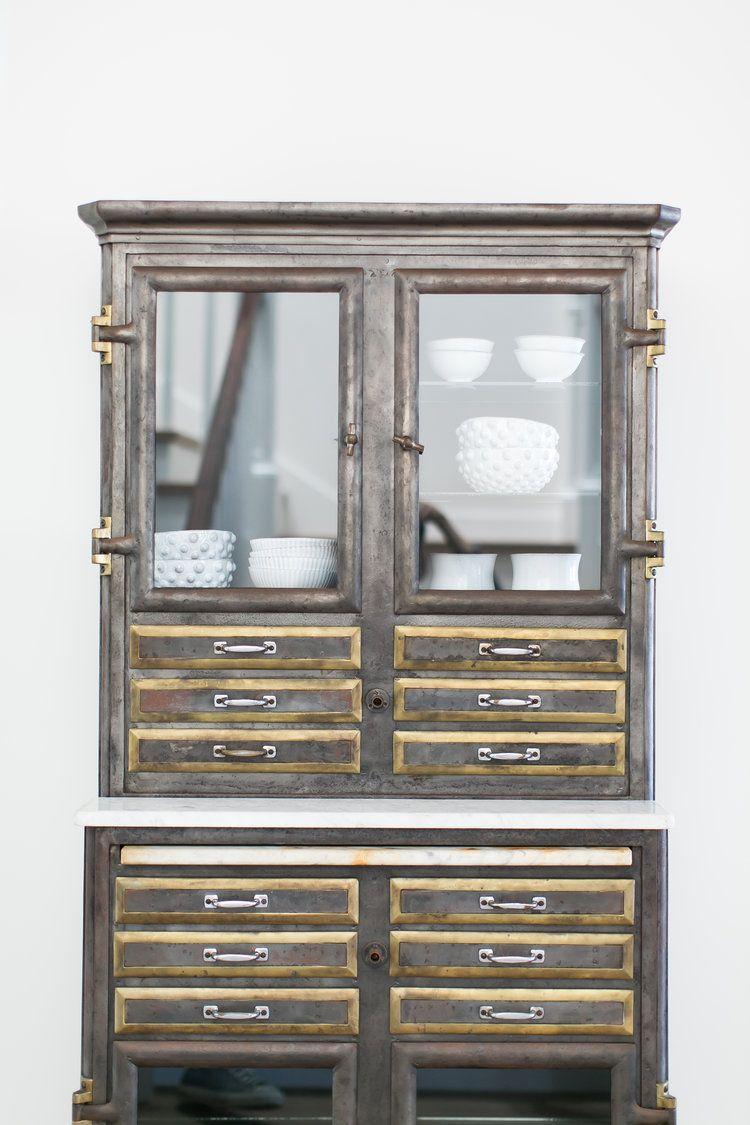 Rgp 8758 Jpg Metal China Cabinets China Cabinet Modern Vintage