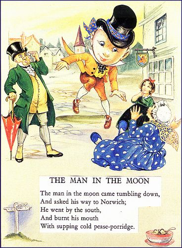 The Man In The Moon Came Tumbling Down   nursery rhymes ...