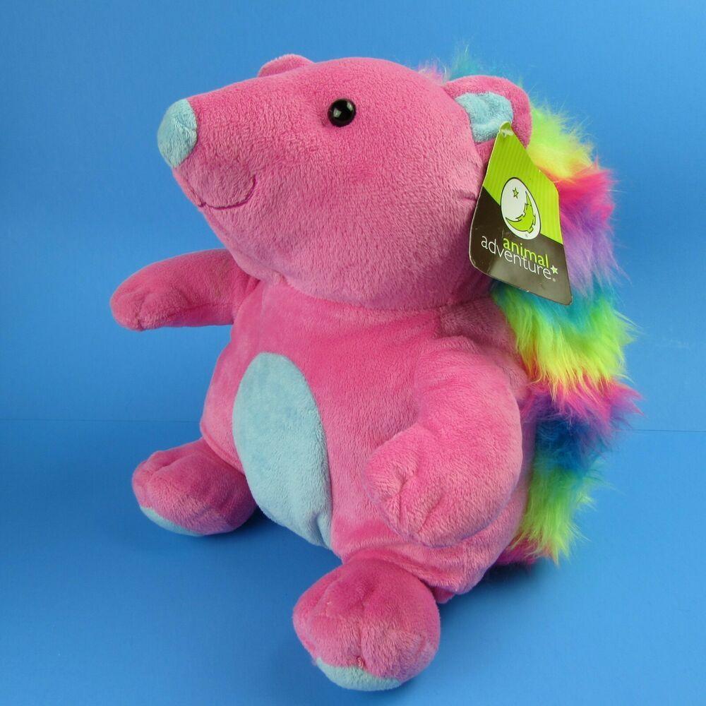 Animal Adventure Pink Rainbow Hedgehog 11 Plush Stuffed Animal Animaladventure In 2021 Plush Stuffed Animals Porcupine Plush Animal Plush Toys [ 1000 x 1000 Pixel ]