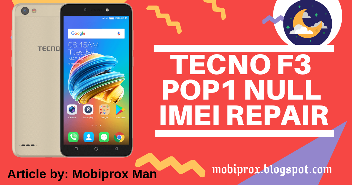 HOW TO FIX NULL OR INVALID IMEI ON TECNO F3 POP1 | mobiprox tips in