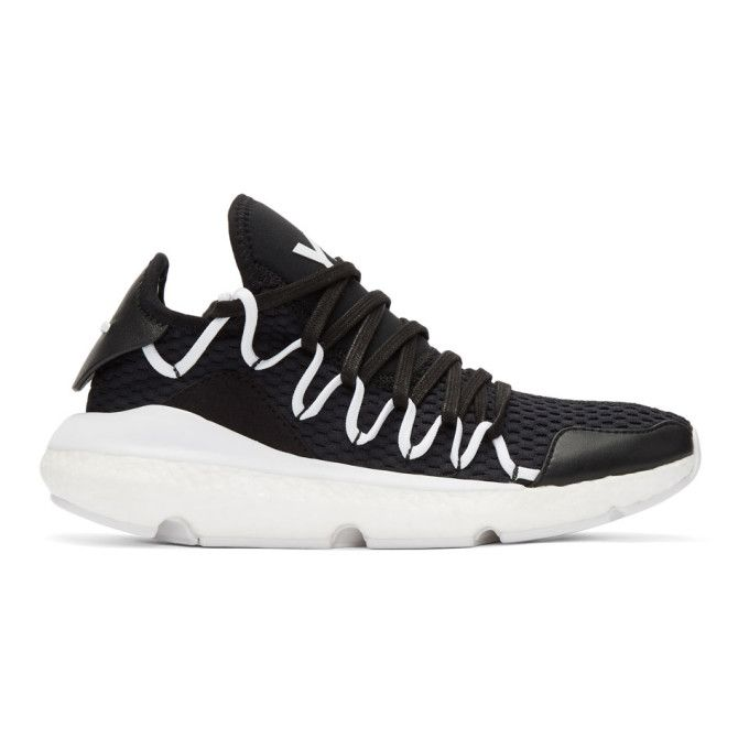 1340df32c77 Y-3 Black Kusari Sneakers.  y-3  shoes