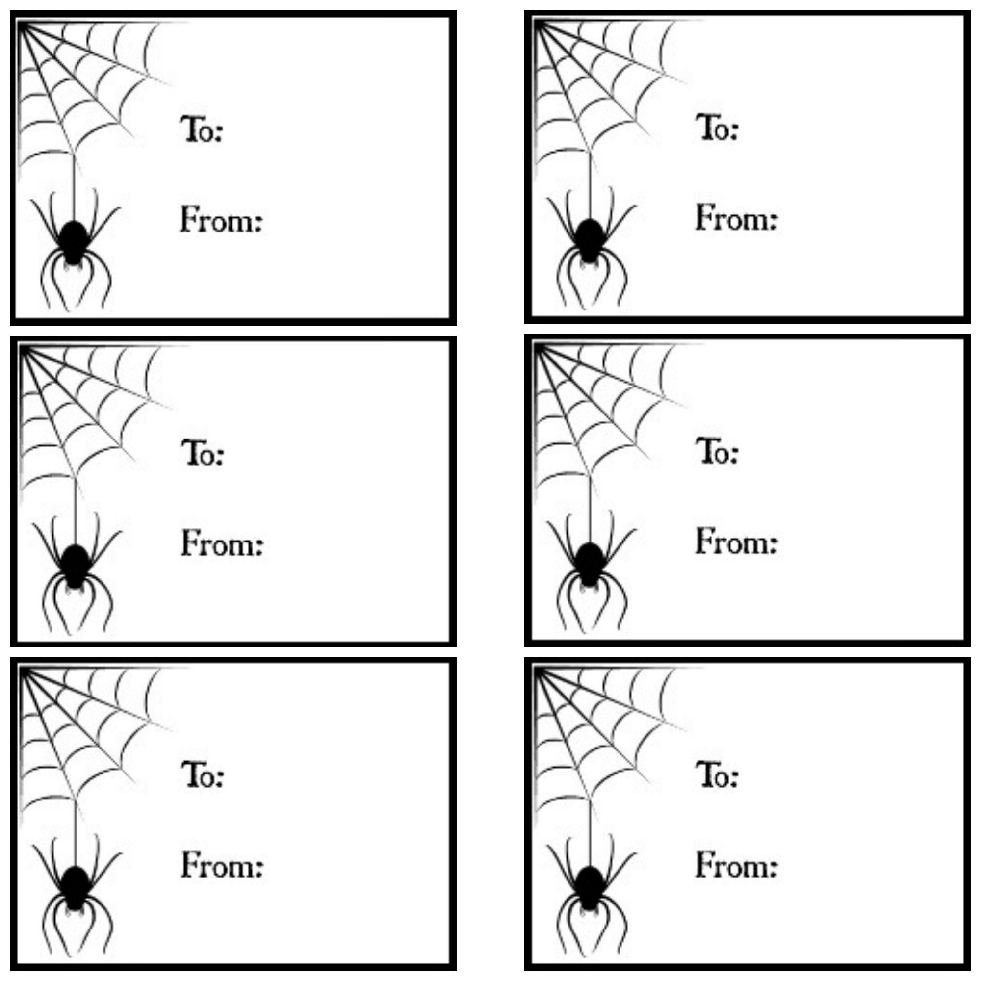 Printable gift tags halloween spider webg google drive printable gift tags halloween spider webg google drive negle Images