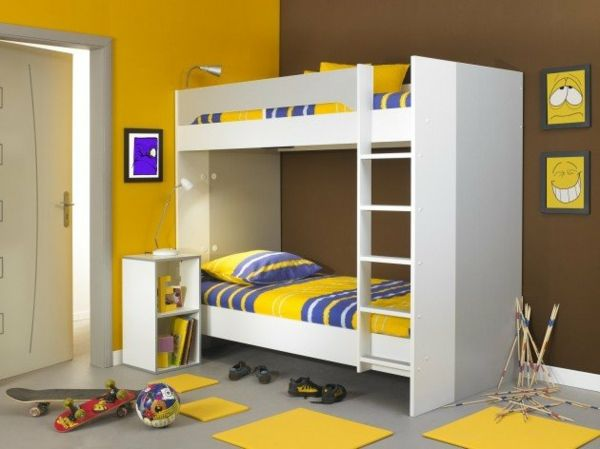 Kinderzimmer Mit Etagenbett : Kleines kinderzimmer mit hoch oder etagenbett einrichten freshouse
