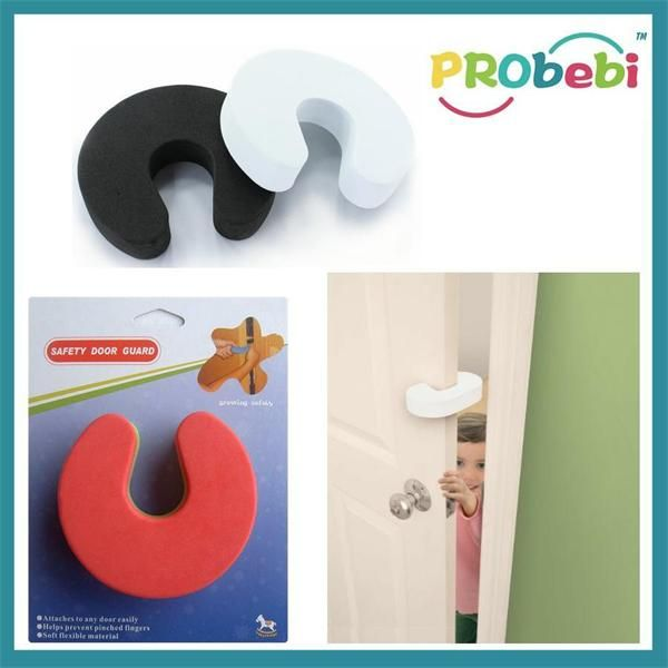The safety door guard offers a simple but effective protection against the possibility of a door barging shut. The good flexibility of EVA foam material for safety door guard fits most doors and keeps door opening, not falling off and with durable quality. # http://www.probaby-china.com/