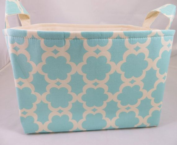 Fabric Storage Basket Bin 10 X 10 X 7 By Divasintuition On Etsy Fabric Storage Baskets Storage Baskets Fabric Storage
