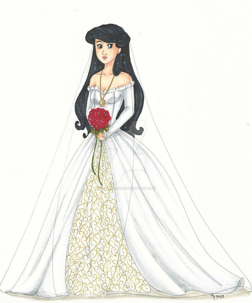 Comm Melody S Wedding Dress By Chelleface90 Deviantart Com On Deviantart Little Mermaid Characters Disney Fan Art The Little Mermaid [ 981 x 815 Pixel ]