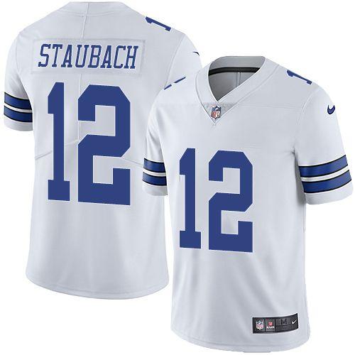 5603dc43f Nike Cowboys  12 Roger Staubach White Men s Stitched NFL Vapor Untouchable Limited  Jersey