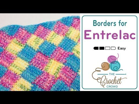 How to Tunisian Crochet: Borders for Entrelac Afghans - YouTube ...