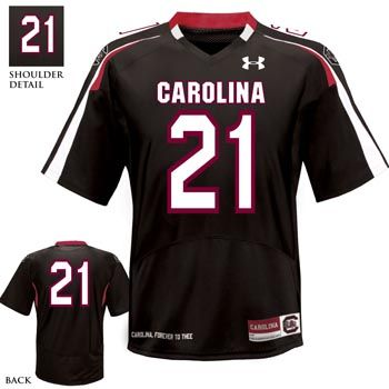 2012 Official Under Armour Football Jersey-#21 Black