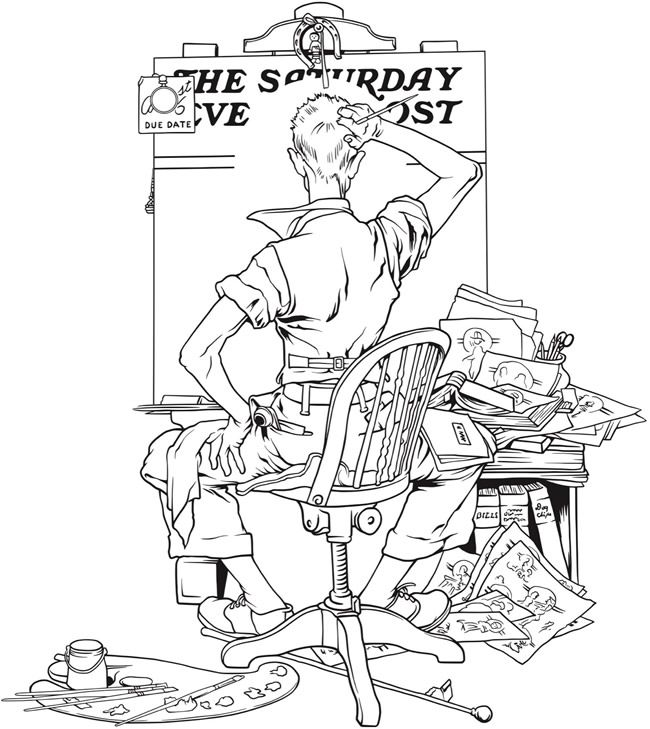 norman rockwell coloring pages - photo#4