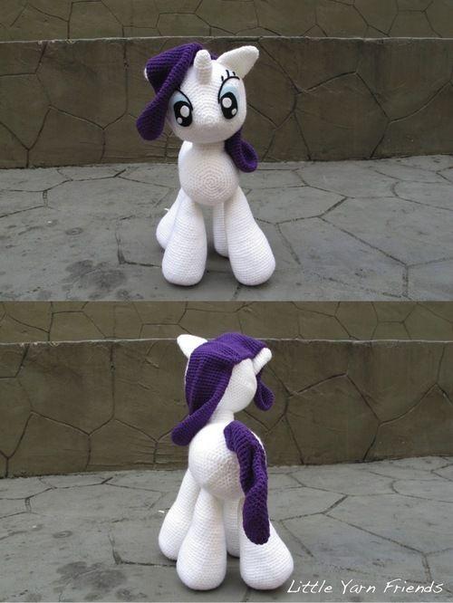Crochet Pattern: My Little Pony - Rarity (Cuddle-Size):   Amigurumi ...