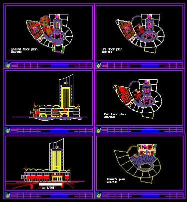 Shopping Mall Plans Dwg Commercial architecture, Autocad