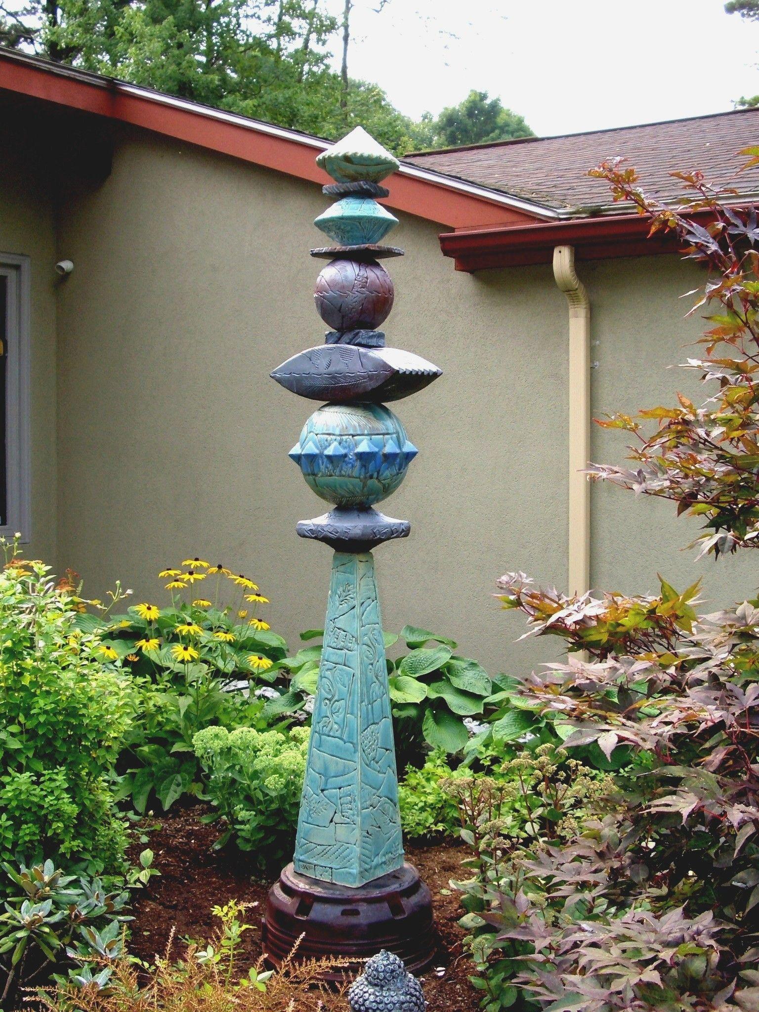 Arts Business Institute Artist Profile Stephen Fabrico Totem Pole Art Garden Pottery Ceramic Sculpture Figurative