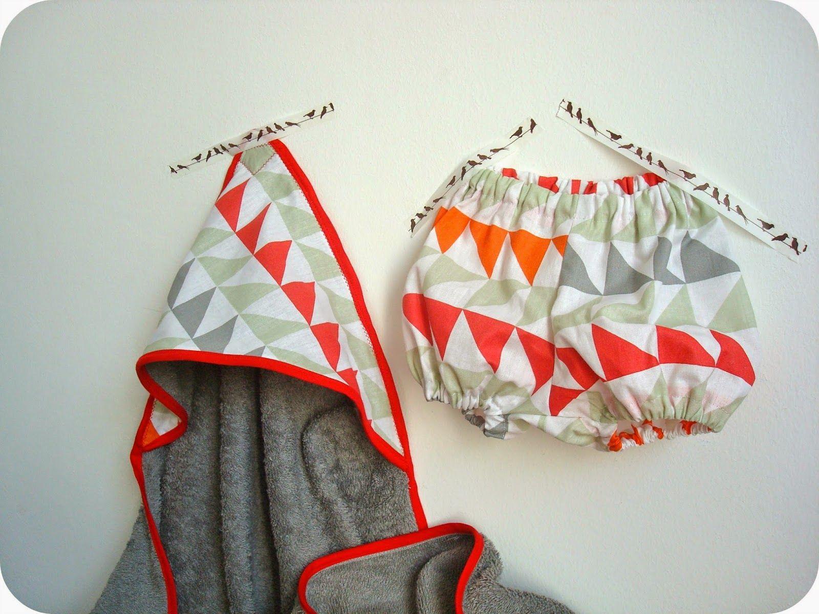 cadeau de naissance bloomer et cape de bain diy pinterest triangles. Black Bedroom Furniture Sets. Home Design Ideas