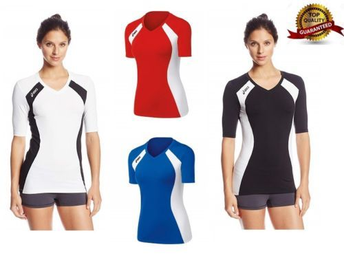 84646be9bbc ASICS-Women-039-s-3-4-Sleeve-Length-T-Shirt-Aggressor-Volleyball-Jersey -Multi-Color