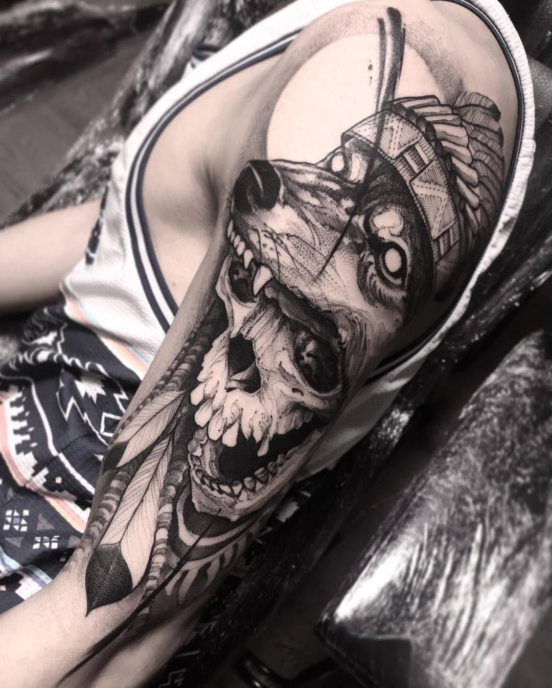 Skull Wolf Headdress